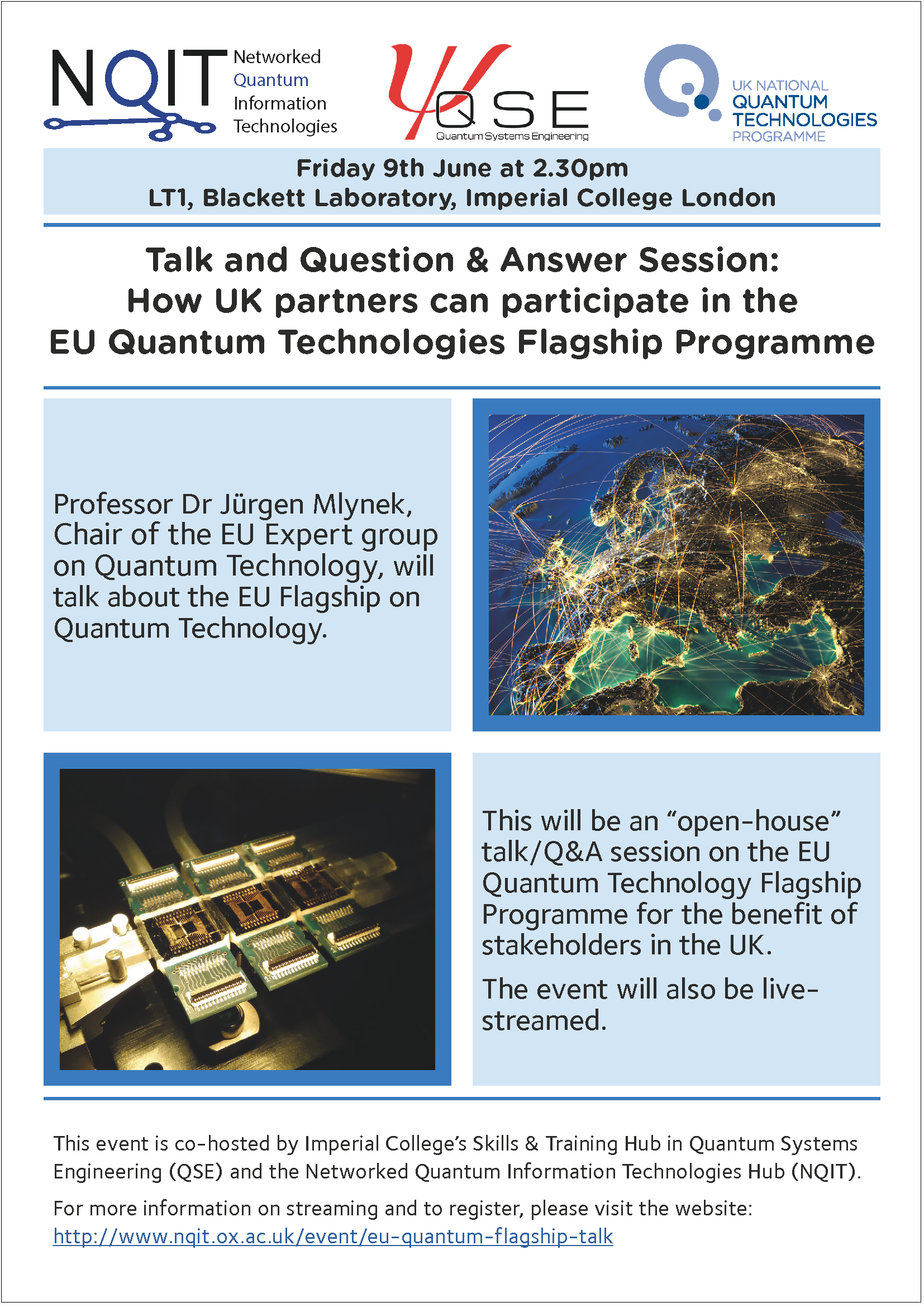 Question and Answer session: How UK partners can participate in the EU Quantum Technologies Flagship Programme