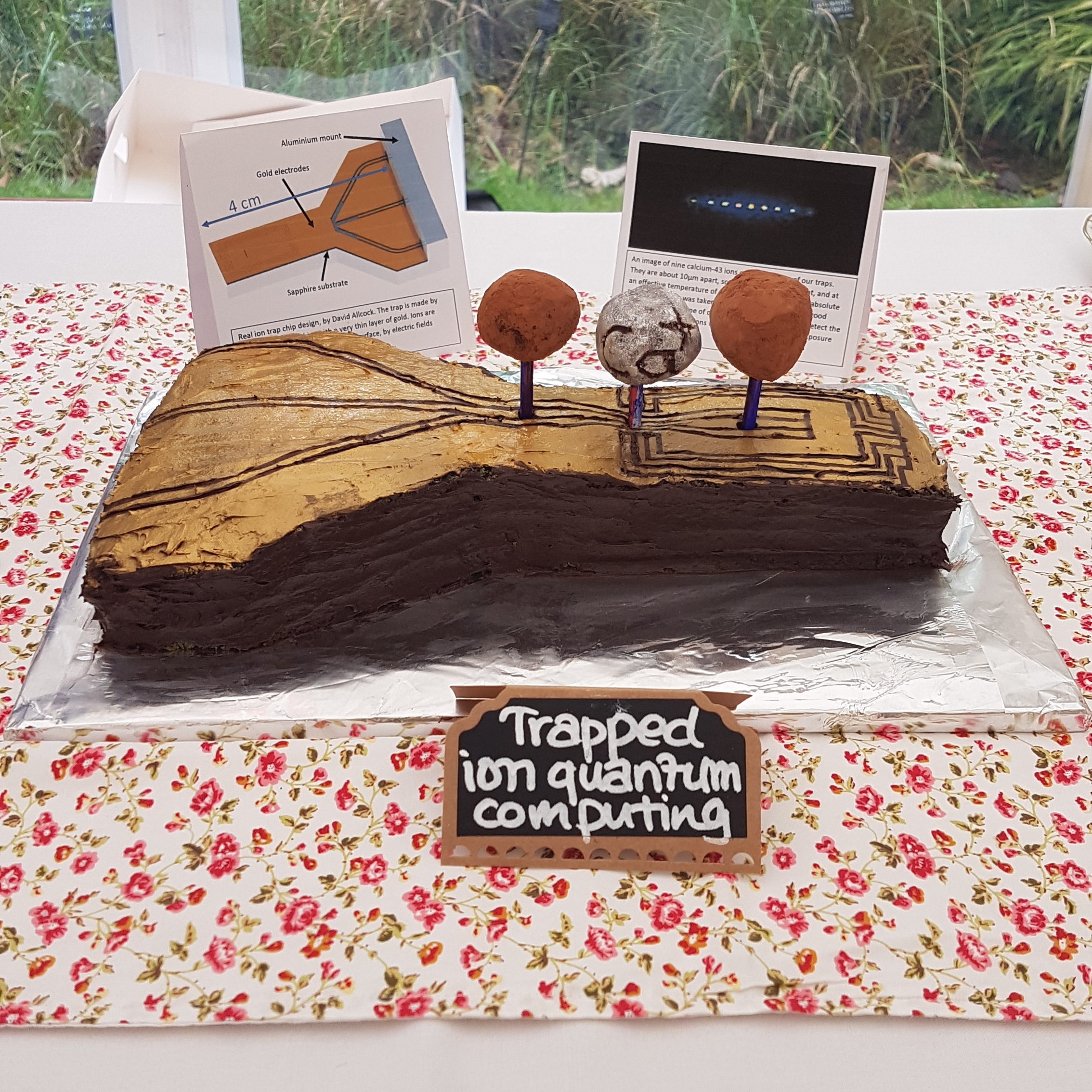 Amy Hughes' Trapped Ion Quantum Computing Cake!