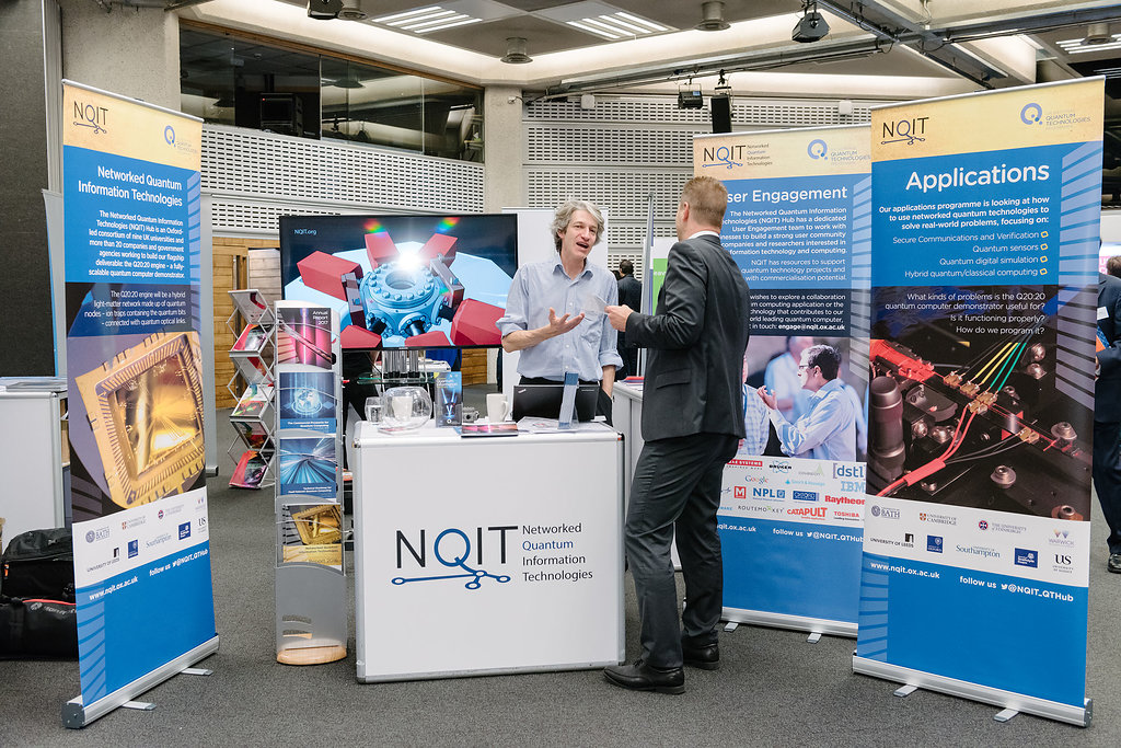 Engaging with visitors at the NQIT Stand