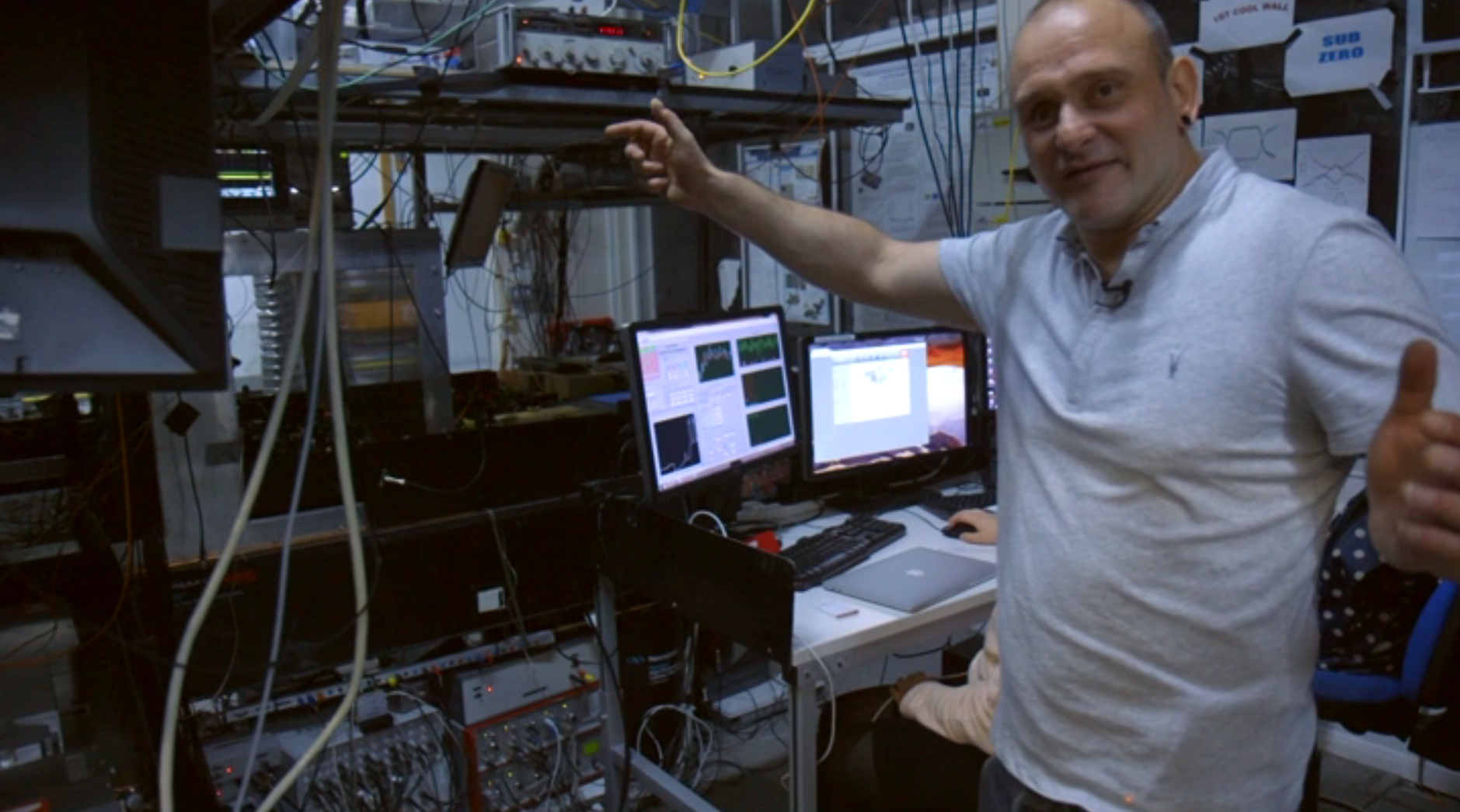 Professor Winfried Hensinger is in his lab in Sussex, explaining how you build a quantum computer