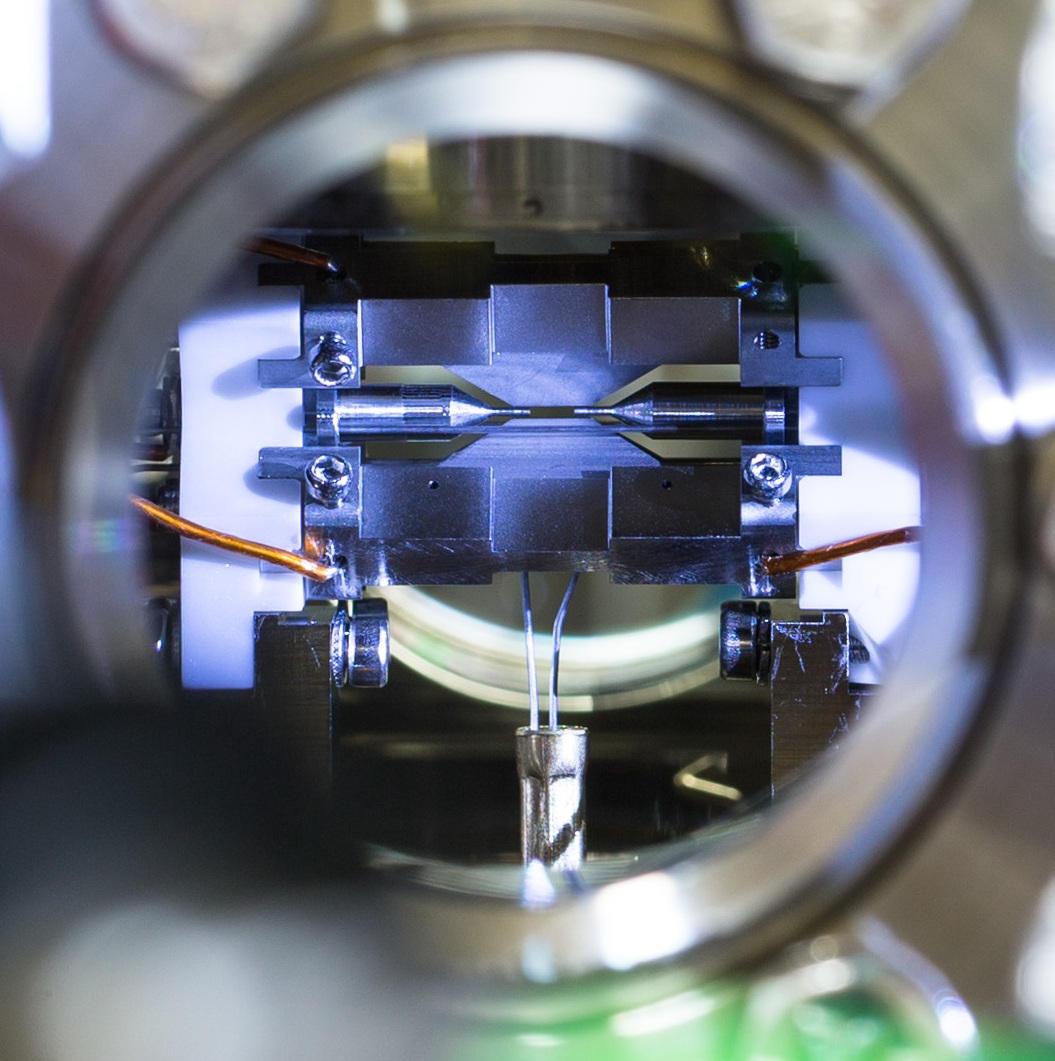 Ion trap for quantum computing, Credit: Lucas Lab, Oxford