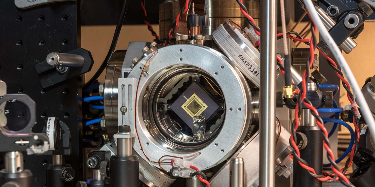 Ion trap for quantum computing  | Credit: NQIT/Stuart Bebb