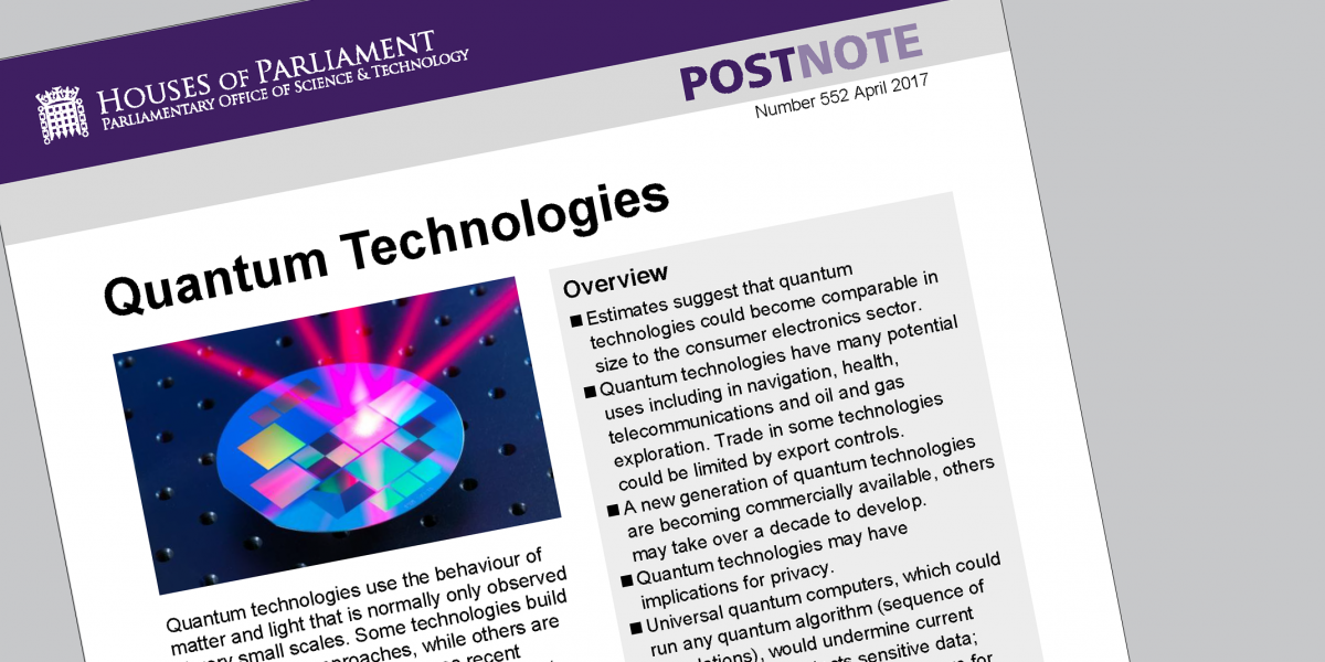 POSTnote on Quantum Technologies